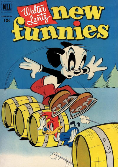 Cover for Walter Lantz New Funnies (Dell, 1946 series) #180
