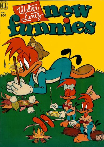 Cover for Walter Lantz New Funnies (Dell, 1946 series) #185