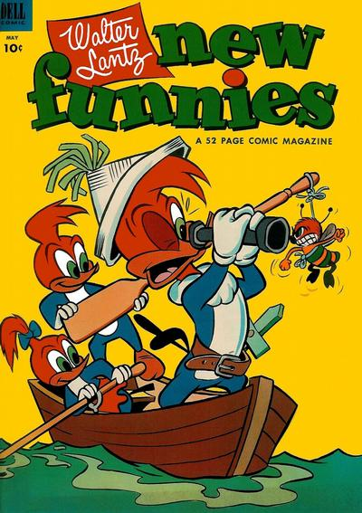 Cover for Walter Lantz New Funnies (Dell, 1946 series) #195