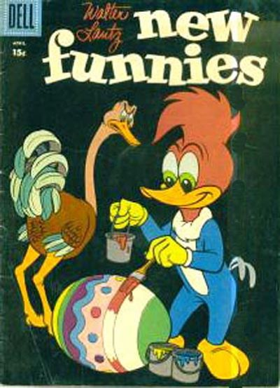 Cover for Walter Lantz New Funnies (Dell, 1946 series) #254 [15¢ edition]