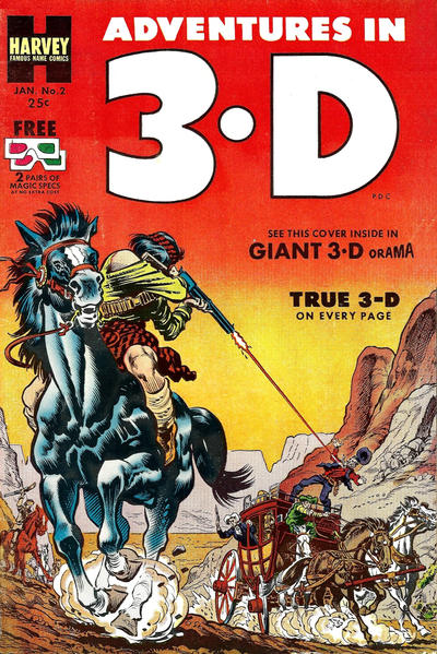 Cover for Adventures in 3-D (Harvey, 1953 series) #2