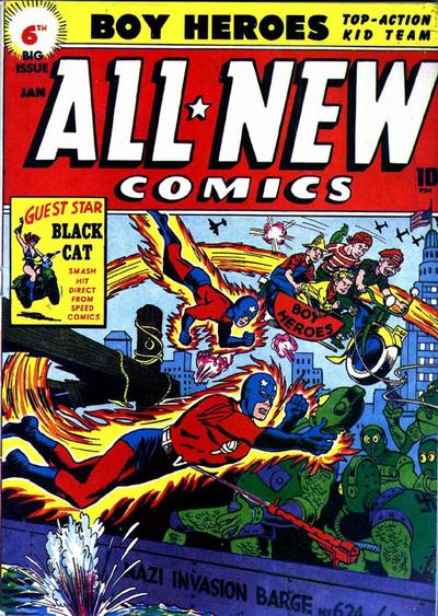 Cover for All-New Comics (Harvey, 1943 series) #6
