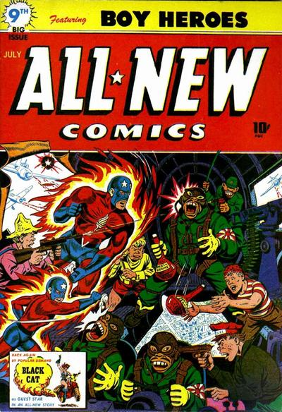 Cover for All-New Comics (Harvey, 1943 series) #9