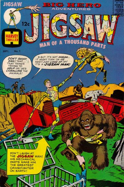 Cover for Jigsaw (Harvey, 1966 series) #1