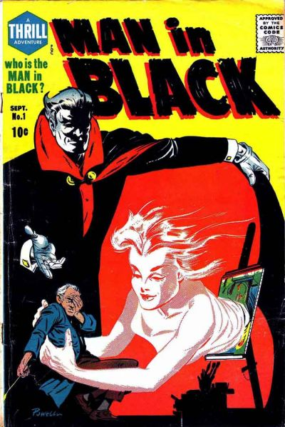 Cover for Man in Black (Harvey, 1957 series) #1