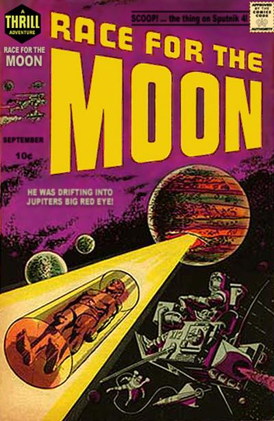 Cover for Race for the Moon (Harvey, 1958 series) #2
