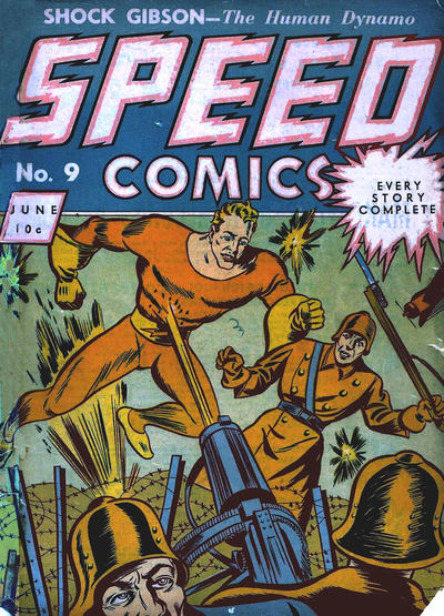 Cover for Speed Comics (Brookwood, 1939 series) #9