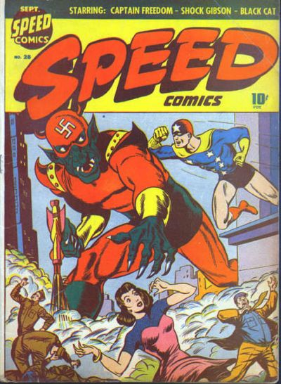Cover for Speed Comics (Harvey, 1941 series) #28