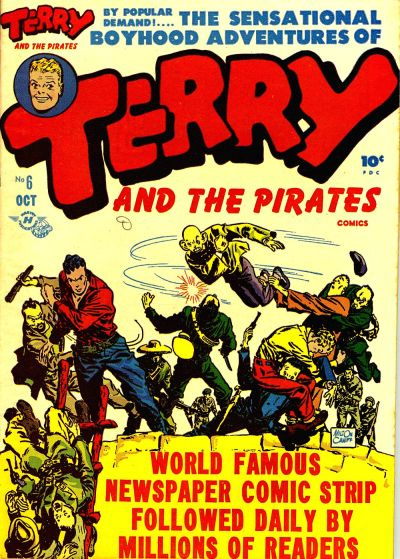 Cover for Terry and the Pirates Comics (Harvey, 1947 series) #6