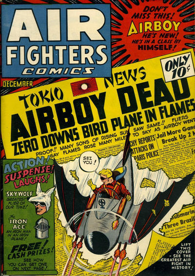 Cover for Air Fighters Comics (Hillman, 1941 series) #v1#3 [3]