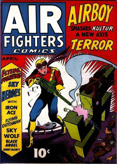 Cover for Air Fighters Comics (Hillman, 1941 series) #v1#7 [7]