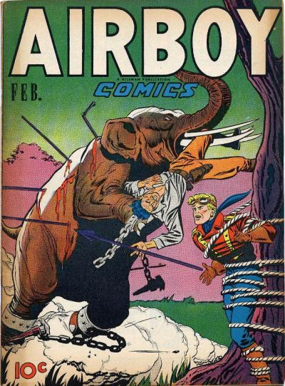 Cover for Airboy Comics (Hillman, 1945 series) #v4#1 [36]