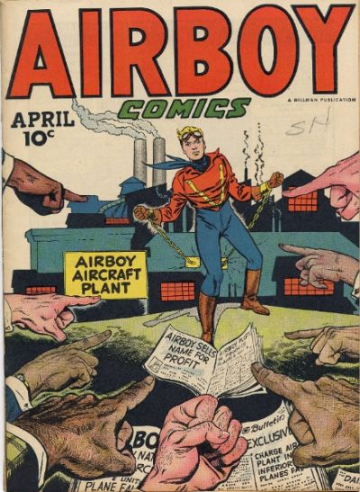 Cover for Airboy Comics (Hillman, 1945 series) #v4#3 [38]