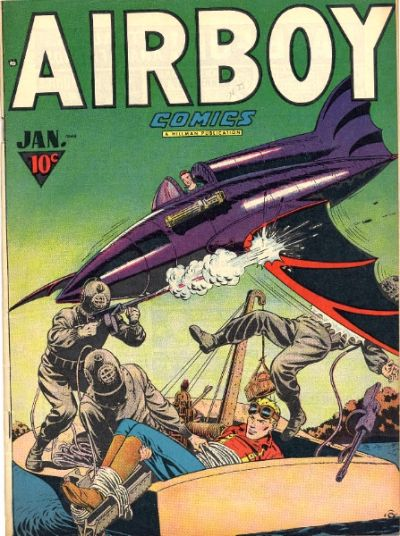 Cover for Airboy Comics (Hillman, 1945 series) #v4#12 [47]
