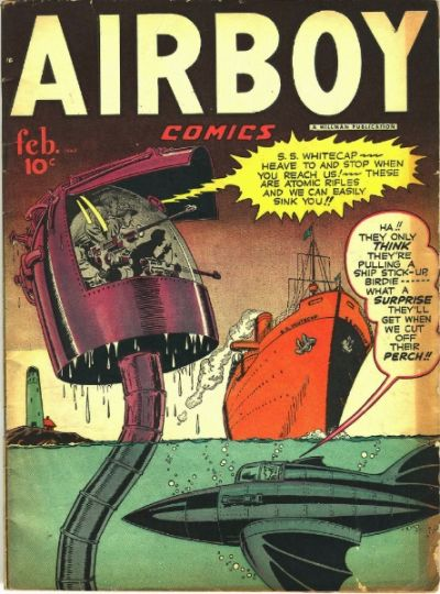 Cover for Airboy Comics (Hillman, 1945 series) #v5#1 [48]