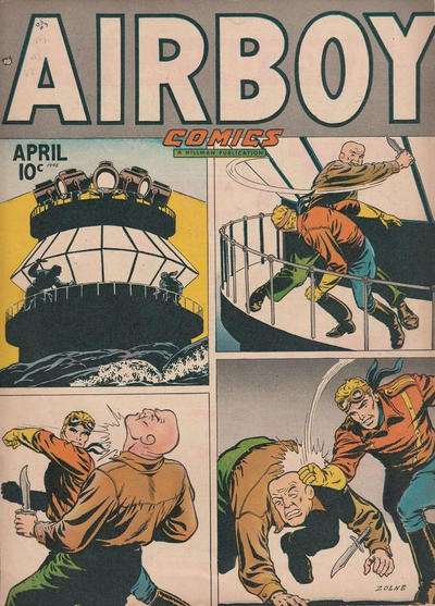 Cover for Airboy Comics (Hillman, 1945 series) #v5#3 [50]
