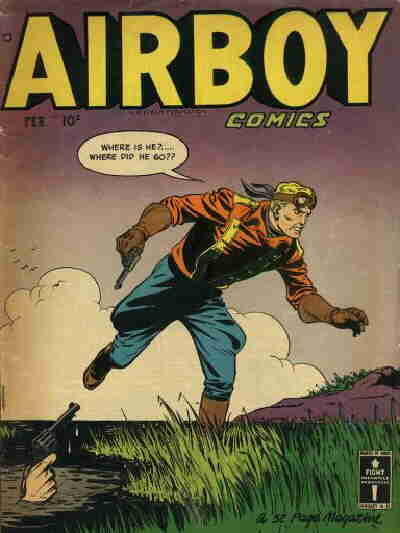 Cover for Airboy Comics (Hillman, 1945 series) #v7#1 [72]
