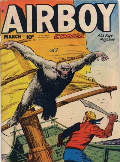 Cover for Airboy Comics (Hillman, 1945 series) #v7#2 [73]