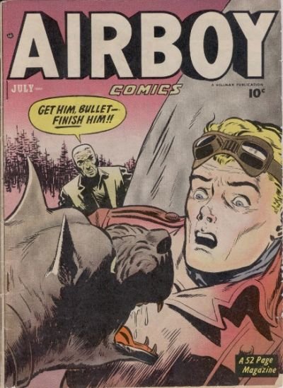 Cover for Airboy Comics (Hillman, 1945 series) #v7#6 [77]
