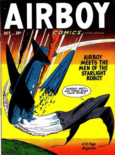 Cover for Airboy Comics (Hillman, 1945 series) #v7#9 [80]