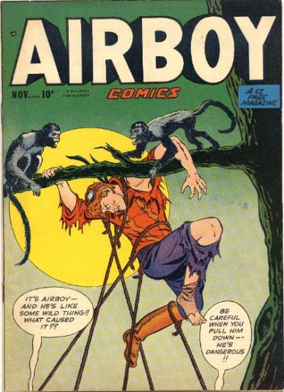 Cover for Airboy Comics (Hillman, 1945 series) #v7#10 [81]