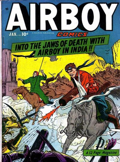 Cover for Airboy Comics (Hillman, 1945 series) #v7#12 [83]