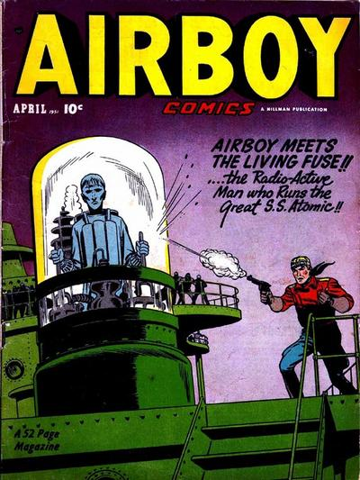Cover for Airboy Comics (Hillman, 1945 series) #v8#3 [86]
