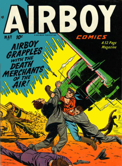 Cover for Airboy Comics (Hillman, 1945 series) #v8#4 [87]