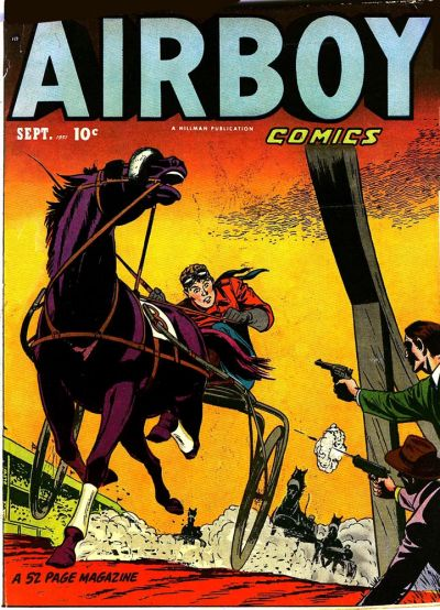 Cover for Airboy Comics (Hillman, 1945 series) #v8#8 [91]