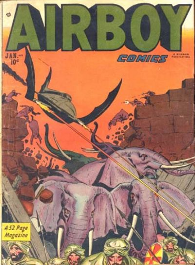 Cover for Airboy Comics (Hillman, 1945 series) #v8#12 [95]