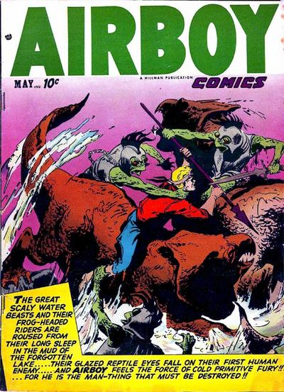 Cover for Airboy Comics (Hillman, 1945 series) #v9#4 [99]