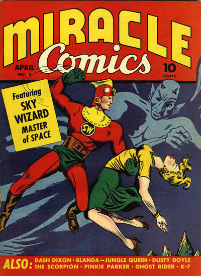 Cover for Miracle Comics (Hillman, 1940 series) #v1#3
