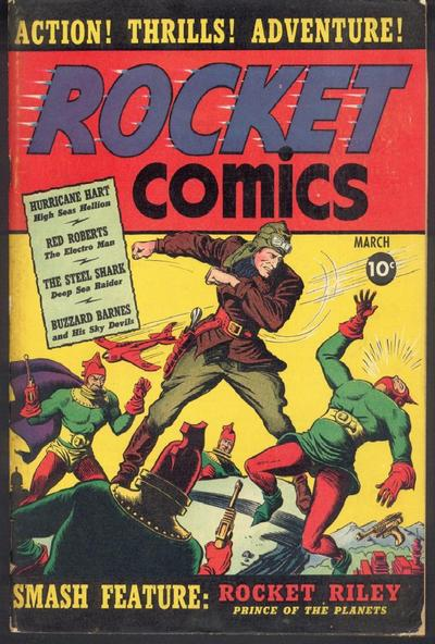Cover for Rocket Comics (Hillman, 1940 series) #v1#1