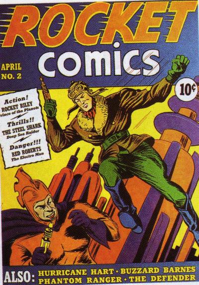 Cover for Rocket Comics (Hillman, 1940 series) #v1#2
