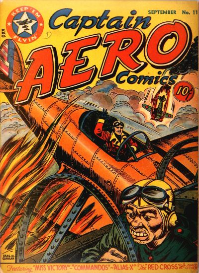 Cover for Captain Aero Comics (Temerson / Helnit / Continental, 1941 series) #v3#9 (11)