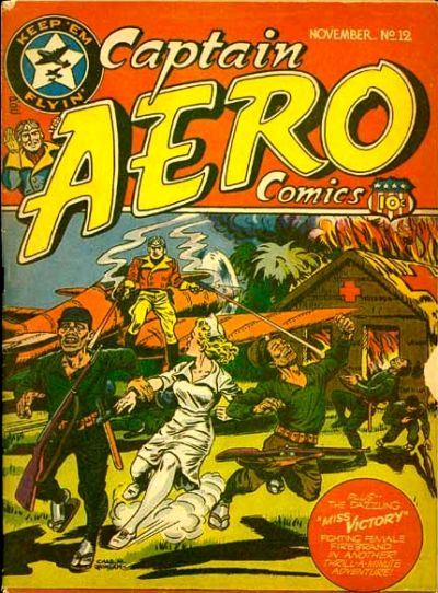 Cover for Captain Aero Comics (Temerson / Helnit / Continental, 1941 series) #v3#10 (12)