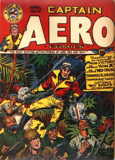 Cover for Captain Aero Comics (Temerson / Helnit / Continental, 1941 series) #v3#12 (14)