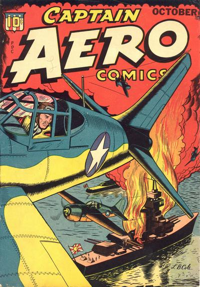 Cover for Captain Aero Comics (Temerson / Helnit / Continental, 1941 series) #v4#3 [17]