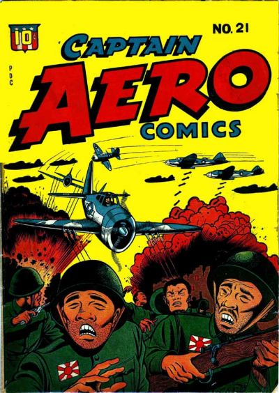 Cover for Captain Aero Comics (Temerson / Helnit / Continental, 1941 series) #21