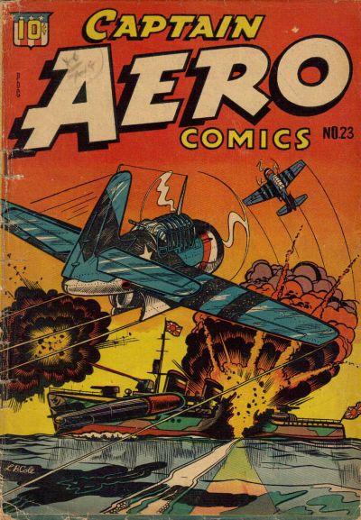 Cover for Captain Aero Comics (Temerson / Helnit / Continental, 1941 series) #23