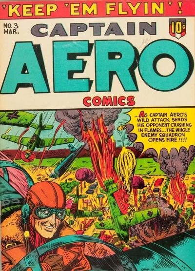 Cover for Captain Aero Comics (Holyoke, 1942 series) #v1#9 (3)