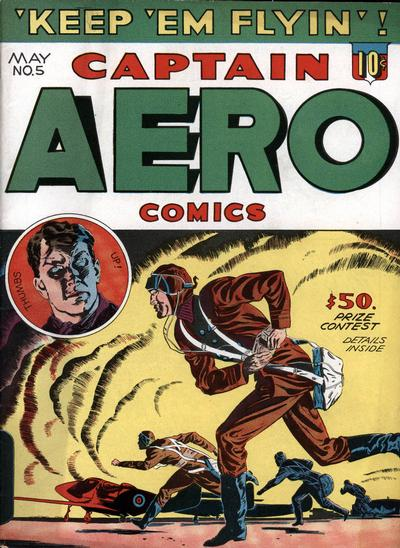 Cover for Captain Aero Comics (Holyoke, 1942 series) #v1#11 (5)