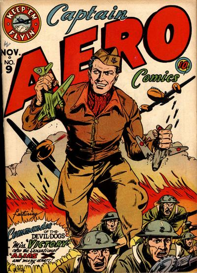 Cover for Captain Aero Comics (Holyoke, 1942 series) #v2#3 (9)