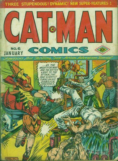 Cover for Cat-Man Comics (Holyoke, 1942 series) #v1#11 (6)