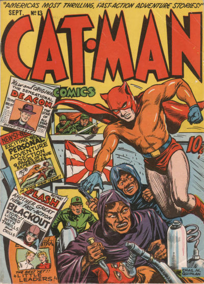 Cover for Cat-Man Comics (Holyoke, 1942 series) #v3#3 (13)