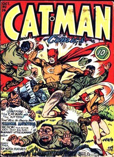 Cover for Cat-Man Comics (Holyoke, 1942 series) #v3#4 (14)