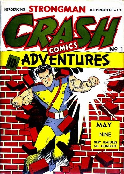 Cover for Crash Comics Adventures (Temerson / Helnit / Continental, 1940 series) #1