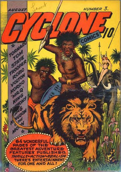 Cover for Cyclone Comics (Worth Carnahan, 1940 series) #3