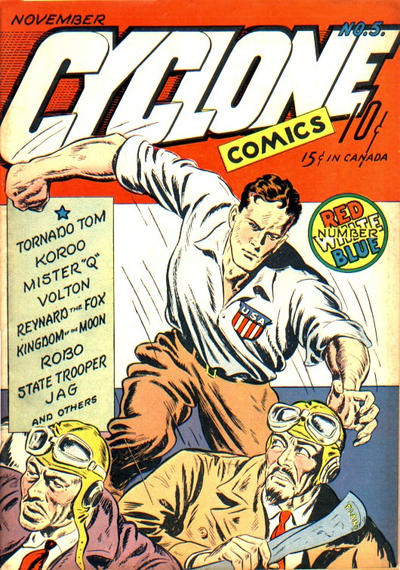 Cover for Cyclone Comics (Worth Carnahan, 1940 series) #5