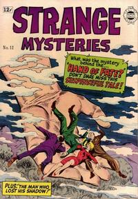 Cover Thumbnail for Strange Mysteries (I. W. Publishing; Super Comics, 1958 series) #12